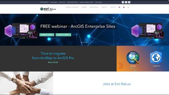 Portfolio - Esri BeLux - design en beheer website